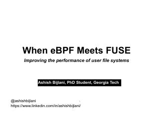 When eBPF meets FUSE: Improving Performance o...