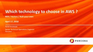 Which technology to choose in AWS