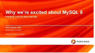 Why we are excited about MySQL 8
