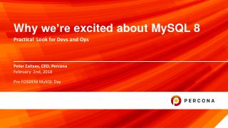 Why we're excited about MySQL 8