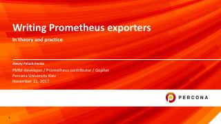 Writing Prometheus exporters