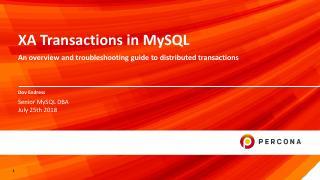 XA Transactions in MySQL