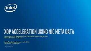 XDP acceleration using nic meta data