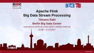 Apache Flink Big Data Stream Processing