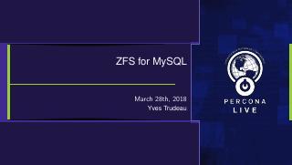 ZFS for MySQL