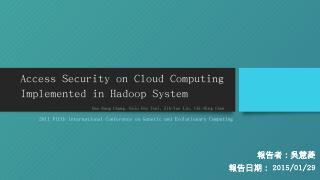 A. Deploying Hadoop C...