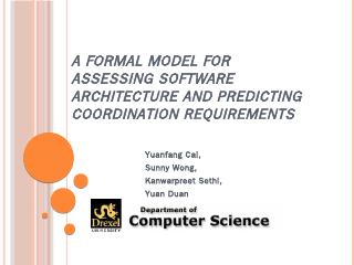 A Formal Model for Assessing Software Archite...