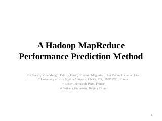 A Hadoop MapReduce - ...