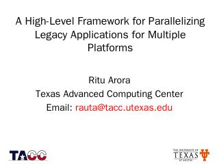 A High-Level Framework for Parallelizing Lega...