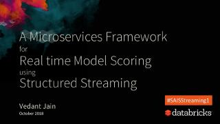 a microservices framework for real time model...