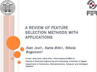 A review of feature selection methods with ap...