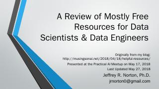 A Review of Resources for Data Scientists, Da...