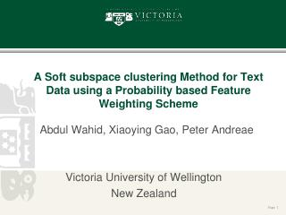 A Soft subspace clustering Method for Text Da...