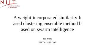 A weight-incorporated similarity-based cluste...