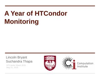 A Year of HTCondor Monitoring