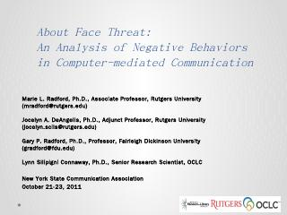 About Face Threat: An Analysis of Negative Be...