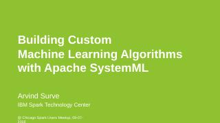Accelerating Data Science with Apache SystemM...