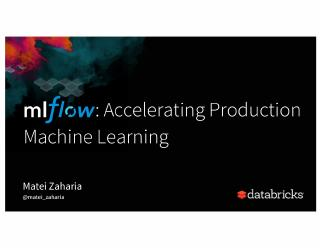 Acclerating Production Machine Learning with ...