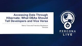 Accessing Data Through Hibernate