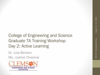 Active Learning - Clemson University