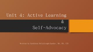 Active Learning & Self-Advocacy - HealthForce...