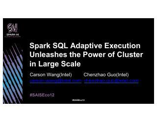 Spark SQL Adaptive Ex...