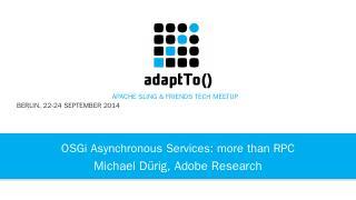 adaptTo() 2014 Presentation