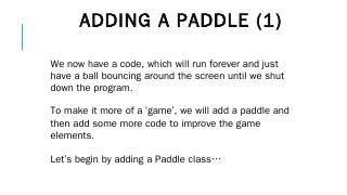 Adding a paddle (1)
