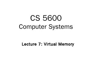 Address Translation and Virtual Memory
