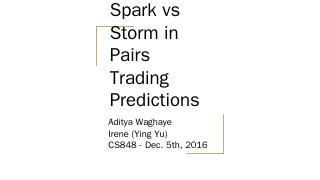 Adi & Irene: Stock Price Tracking with Spark ...