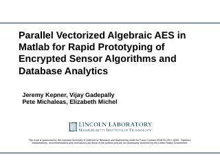 Advanced Encryption Standard (AES) - IEEE HPEC