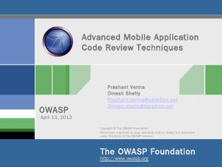 Advanced Mobile Application Code Review Techn...