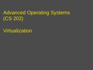 Advanced Operating Systems - UCR CS