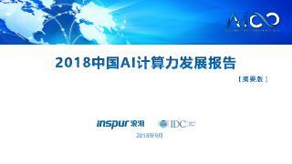 2018中国AI计算力发展报告