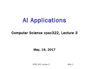 AI - Machine Learning @google - UBC Computer ...