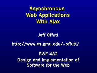 Ajax - GMU CS Department