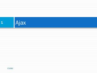 Ajax - Web Programming Step by Step