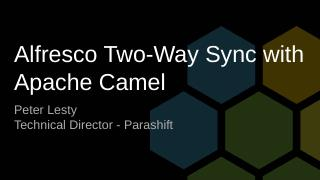 Alfresco Two-Way Sync with Apache Camel - Bee...