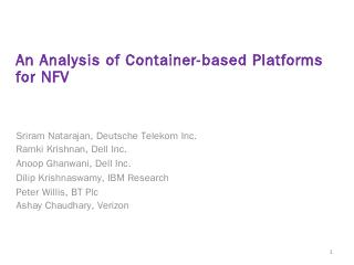 An Analysis of Container-based Platforms for ...