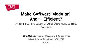 An Empirical Evaluation of OSGi Dependencies ...