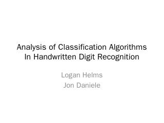 Analysis of Classification Algorithms In Hand...