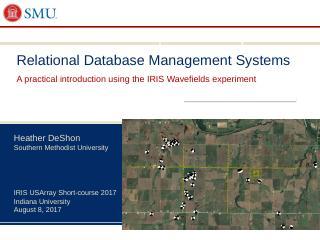 Antelope Relational Database System - IRIS