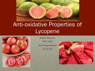 Anti-oxidative Properties of Lycopene - NFSC ...