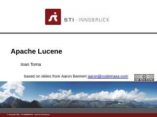 Apache_lucene.ppt - STI Innsbruck