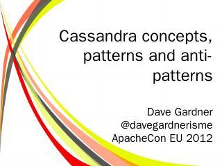 Apache Cassandra - ApacheCon
