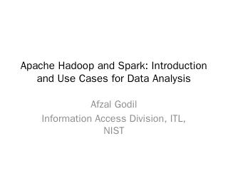 Apache Hadoop and Spark - Mathematics, Statis...