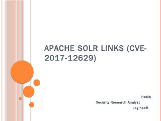 apache solr links CVE-2017-12629 - Cloudinary