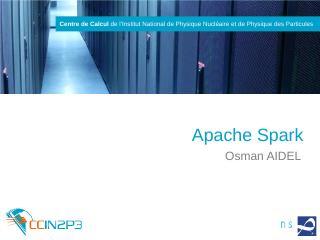 Apache Spark - Indico