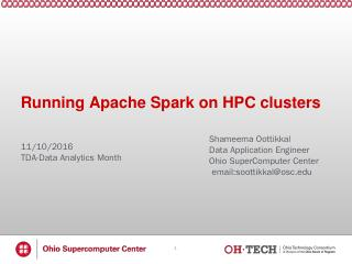 Apache Spark - Ohio Supercomputer Center