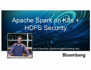 Apache Spark on k8s and HDFS Security